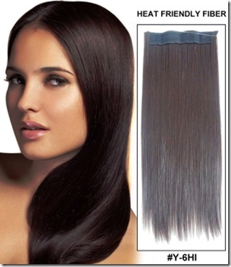 Straight Synthetic Flip In Hair Extension
