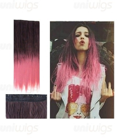 25-one-piece-ombre-pink-color-straight-clip-in-heat-friendly-synthetic-extension-tbe0001