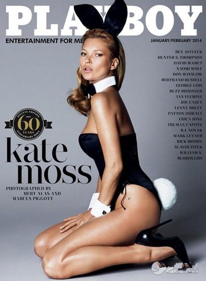 Kate Moss on Playboy