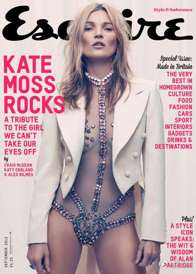 Kate Moss on Esquire