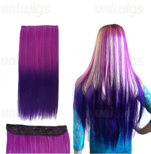 Get the look be purple with hair extensions and lace front wig purple clip in hair extensions pmusecretfo Image collections
