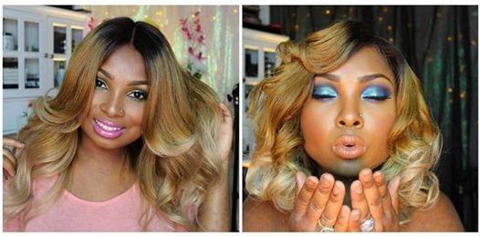 Triple ombre full lace wigs