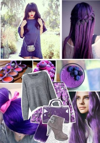 Get the look: being beautifully purple