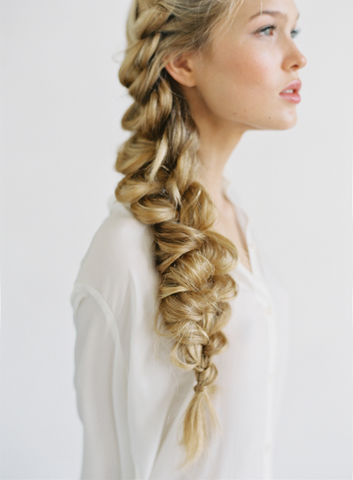 Romantic side braids