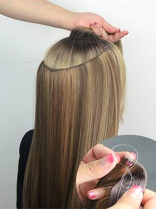 This new generation of flip in extensions comes with adjustable either split the hair around the ears or leave over the top as picture pmusecretfo Image collections