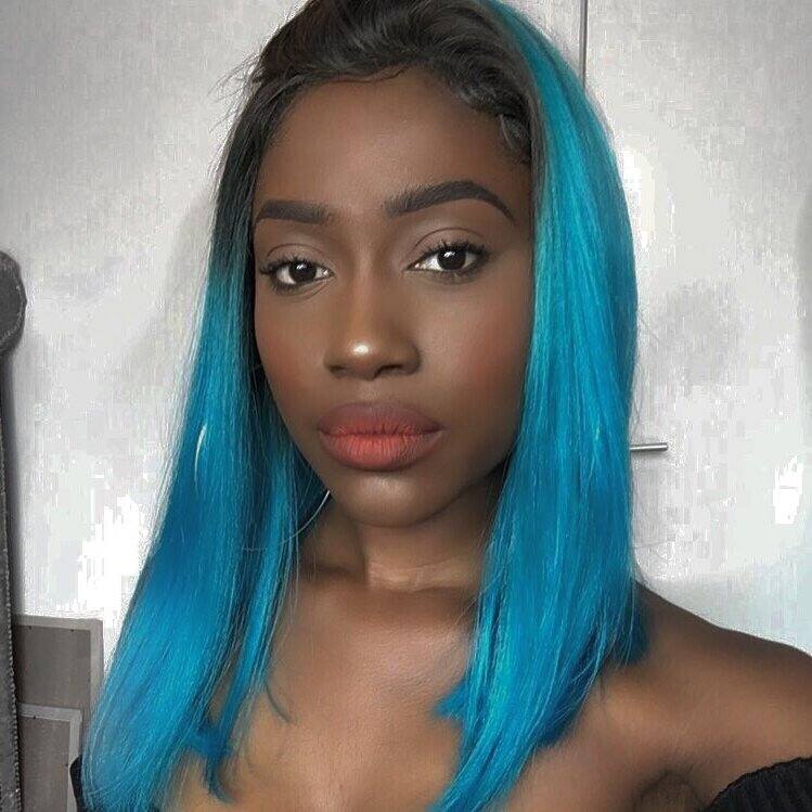 ombre blue wigs