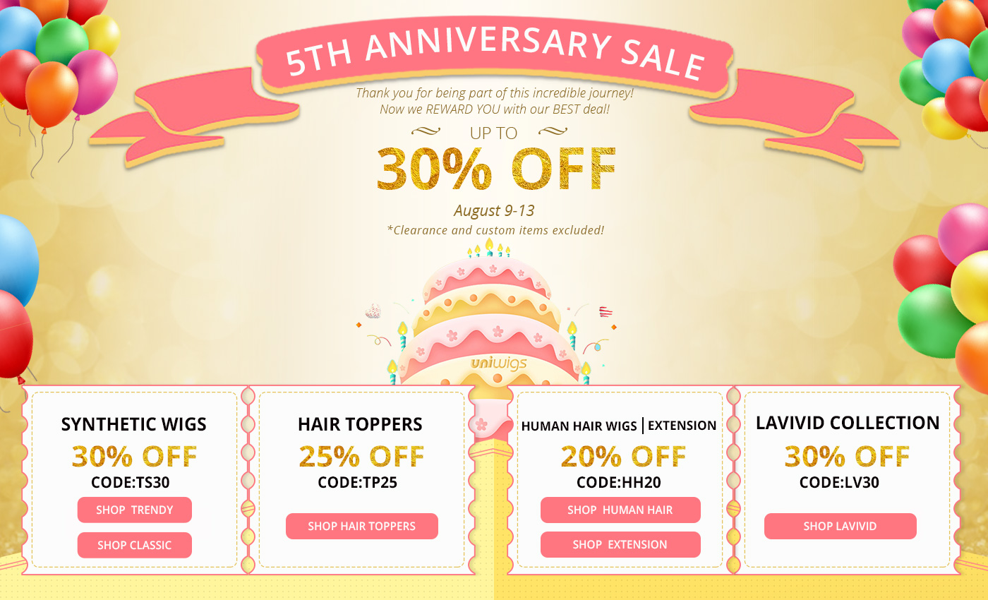 UniWigs 5th Anniversary Sale