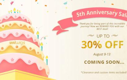 UniWigs 5th Anniversary Sale