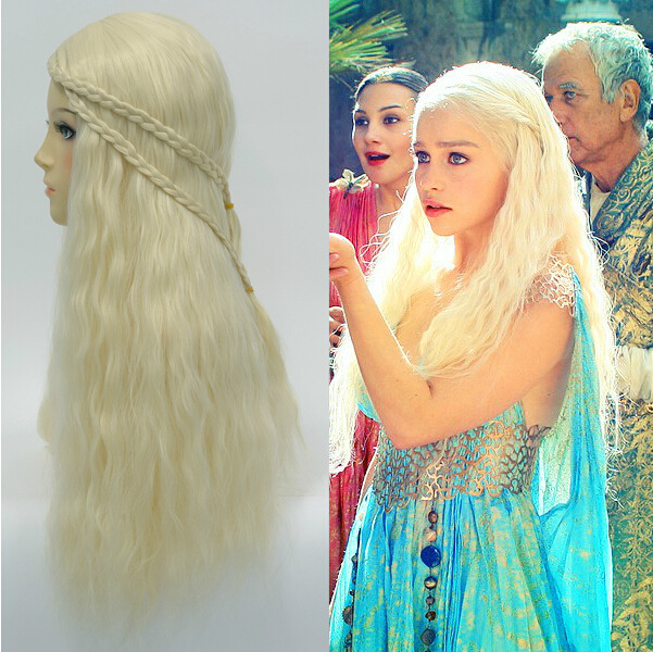 Cosplay-wig-Game-of-Thrones-Long-Wavy-Blonde-with-braid-Cosplay-Anime-wig-Daenerys-Targaryen-Mother