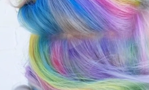 Still doing ombre hair?  How about trying the secret rainbow hair!