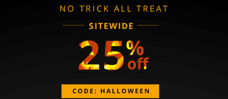 Halloween Sale 25% OFF, Only 3 days left!