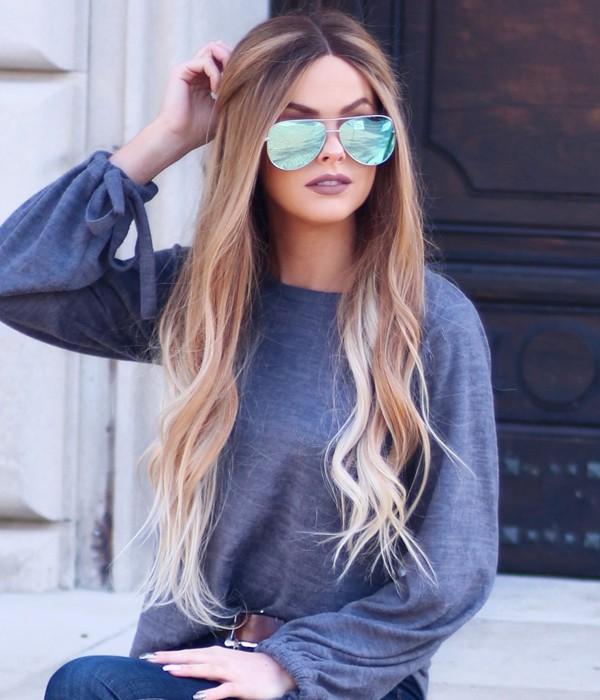 Lauren Conrad Wave Remy Human Hair Ombre Color Lace Wig Uniwigs