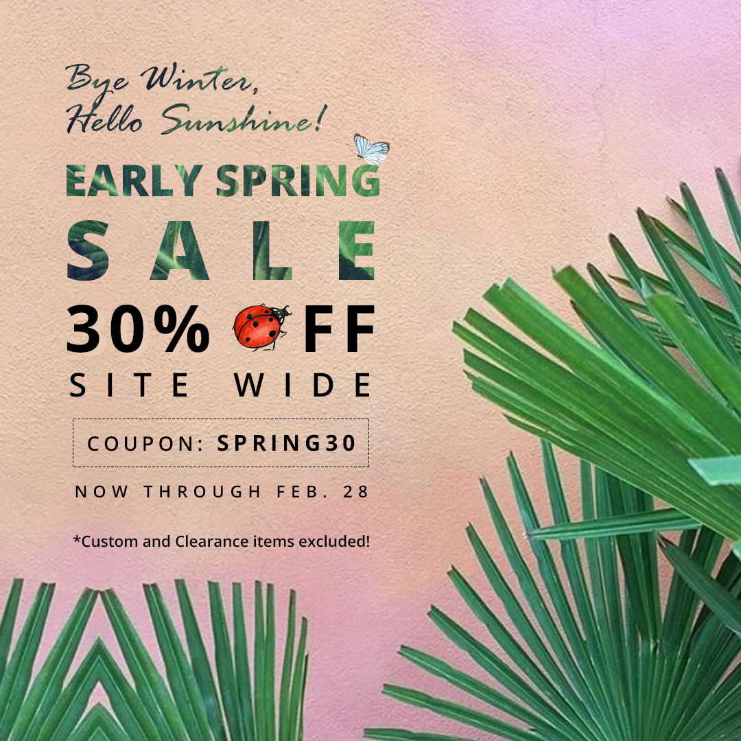 2018 early spring sale