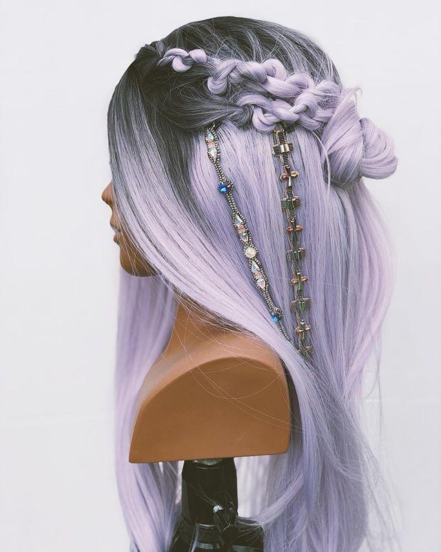 ombre grey wigs