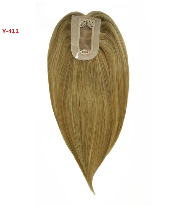 Upgrade Charm Remy Human Hair Topper with Bangs 1