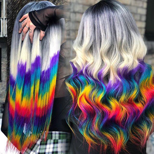 rainbow human hair wigs
